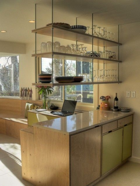 hanging kitchen cabinets from ceiling  Google Search