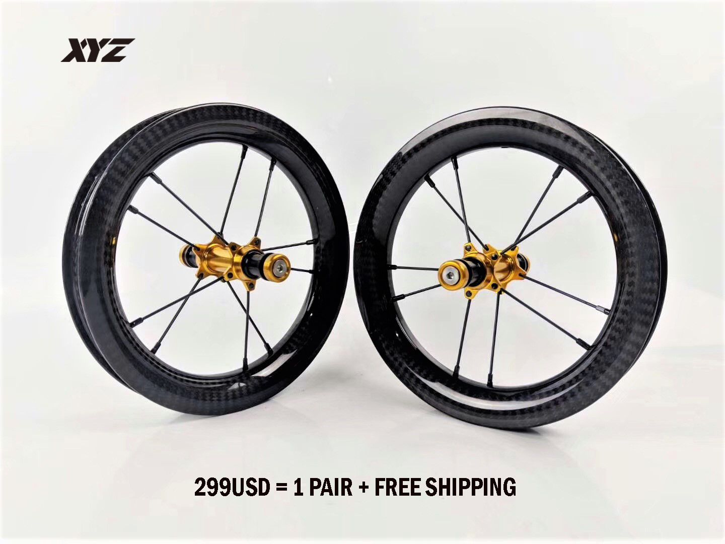 Wholesale 12inch Carbon Tubeless Wheelset For Advanced Modified Balance Bike Used 299usd Pair Include Shipment