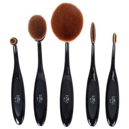 BMC 5pc Luminous Perfecting Curve Makeup Brush Kit For Contouring Blending More - Walmart.com