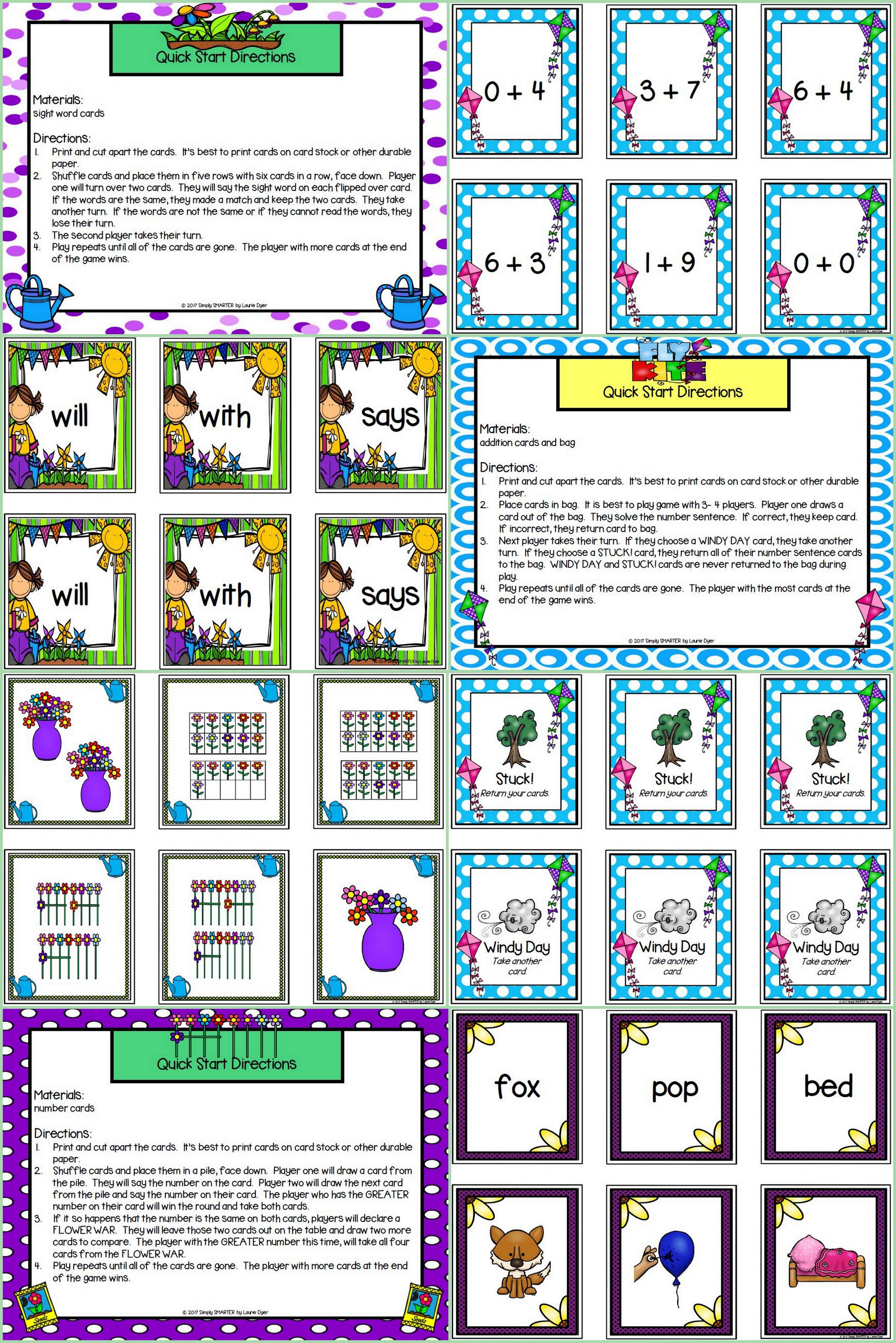Are you looking for LOW PREP literacy and math games for