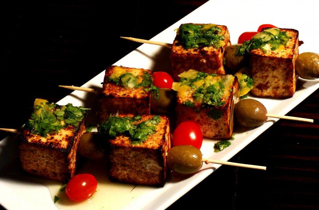 spiced tofu brochettes