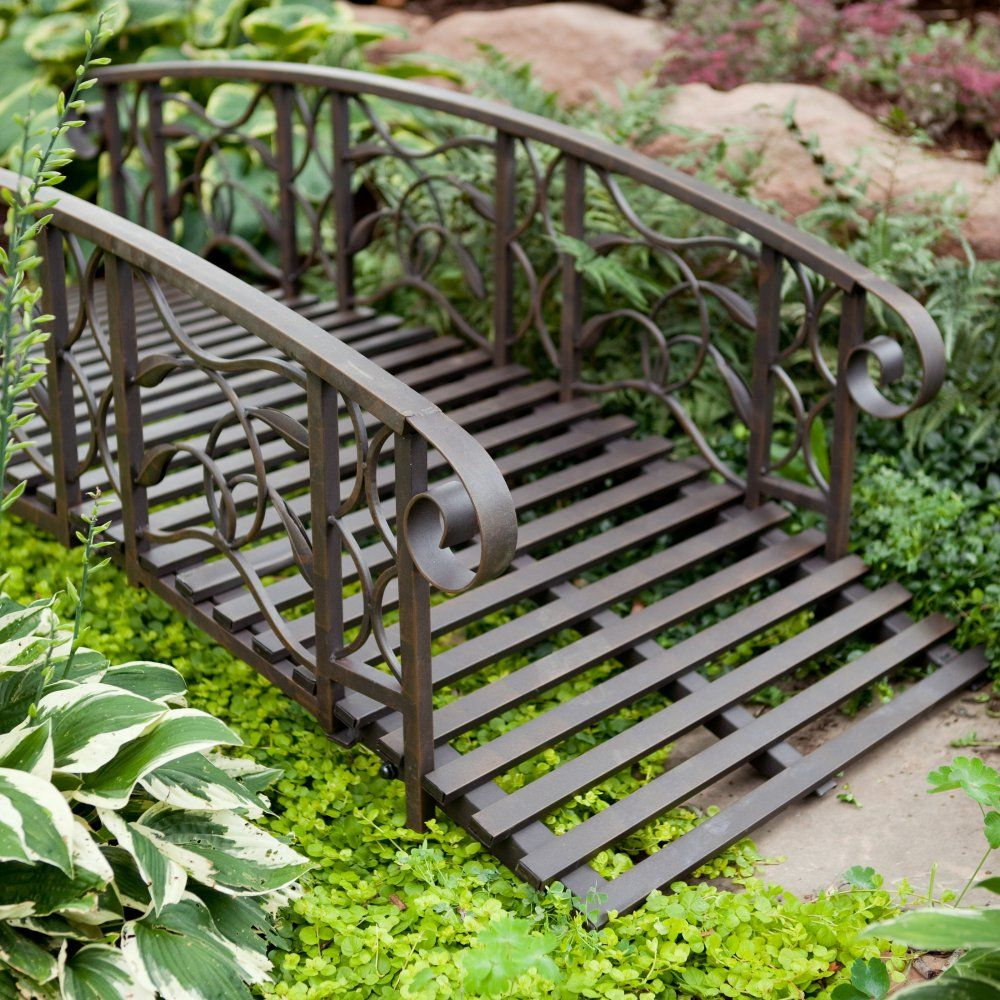 Coral Coast Willow Creek 6-ft. Metal Garden Bridge - Garden Bridges ...