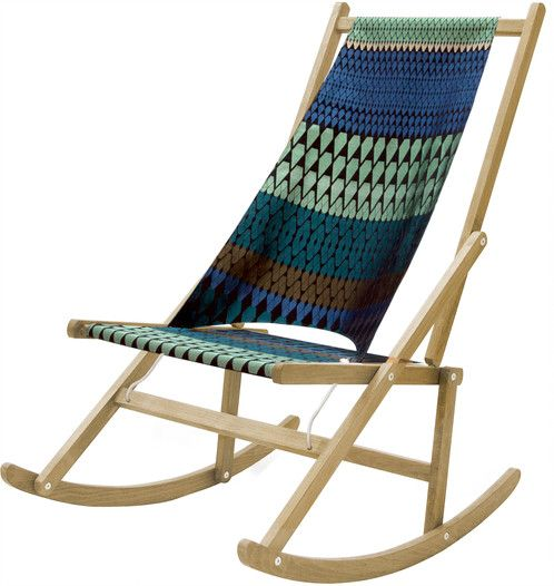Designer Margo Selby Cover On Light Frame Folding Rocking Deck Chair Wawa London Folding Rocking Chair Rocking Chair Diy Rocking Chair