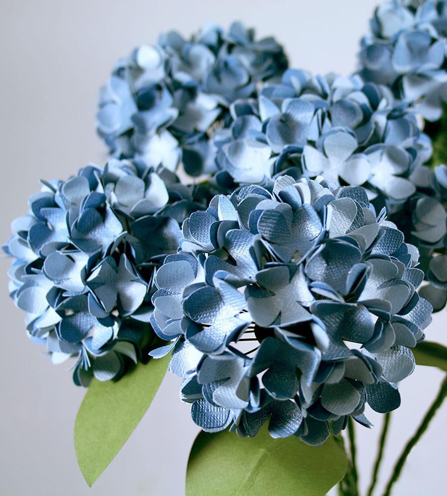 Hydrangea paper flowers hydrangea flowers and craft hydrangea paper flowers mightylinksfo