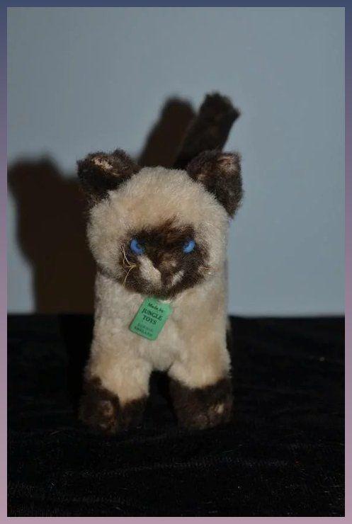 Vintage Stuffed Animal Cat Jungle Toys London England