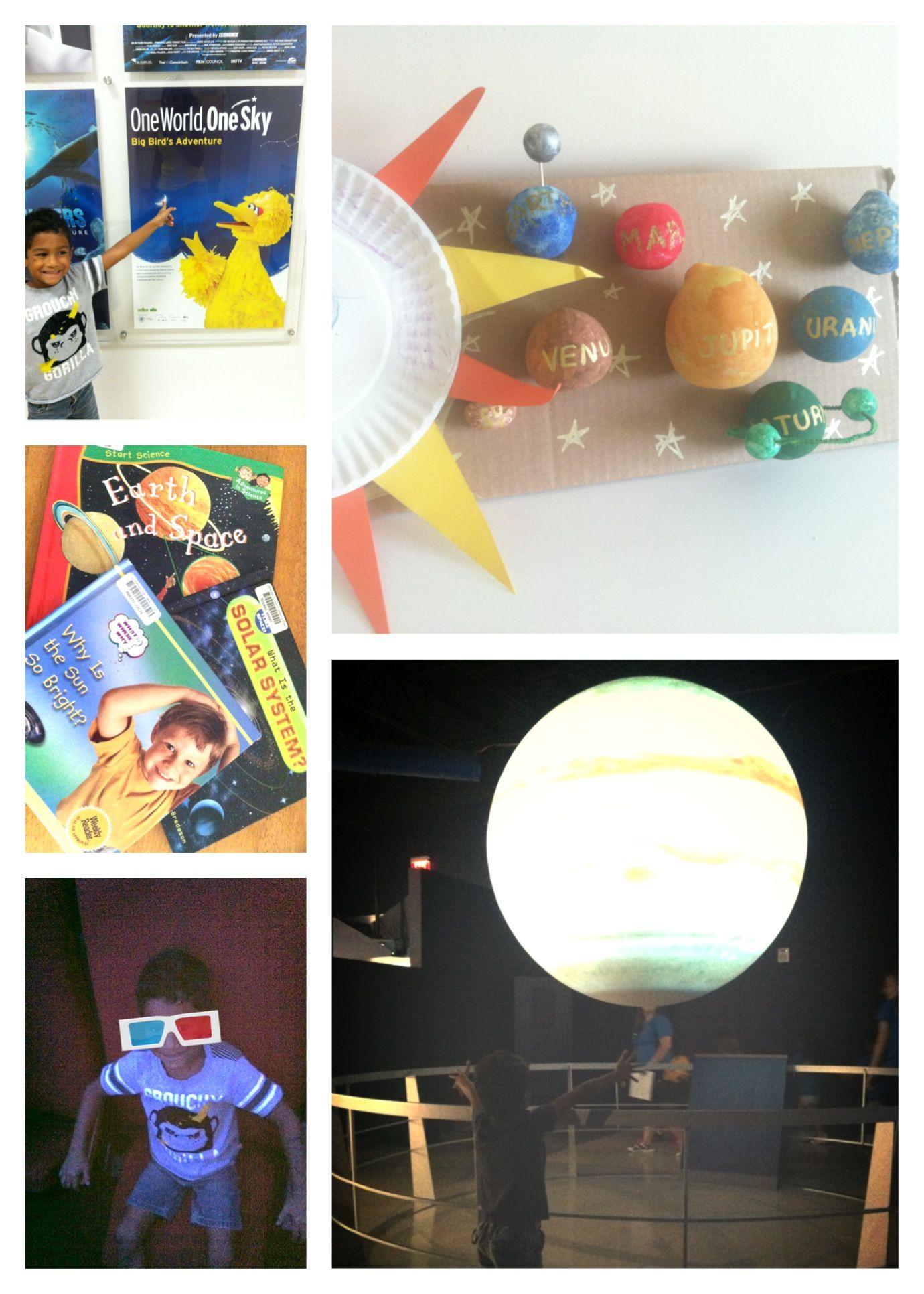 Preschooler Learn About Solar System Visit To Planetarium