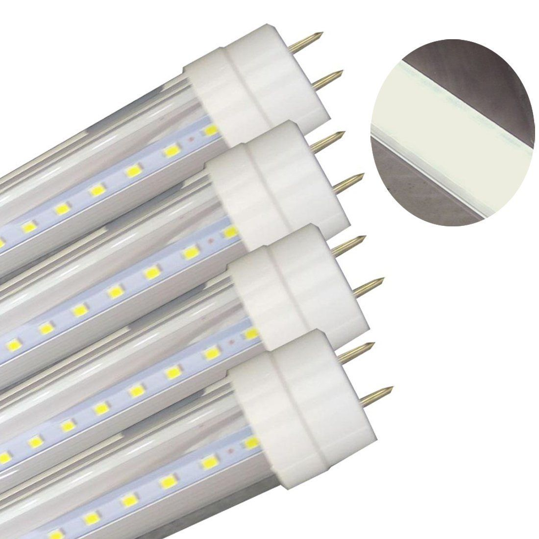 T8 Led Tube 9w Replacement Andlt 40w Fluorescent Lamp Lightsandgt 2ft Dualended Power Cold White 6000k2000lmclear Cove Fluorescent Lamp Led Light Bulbs T8 Led