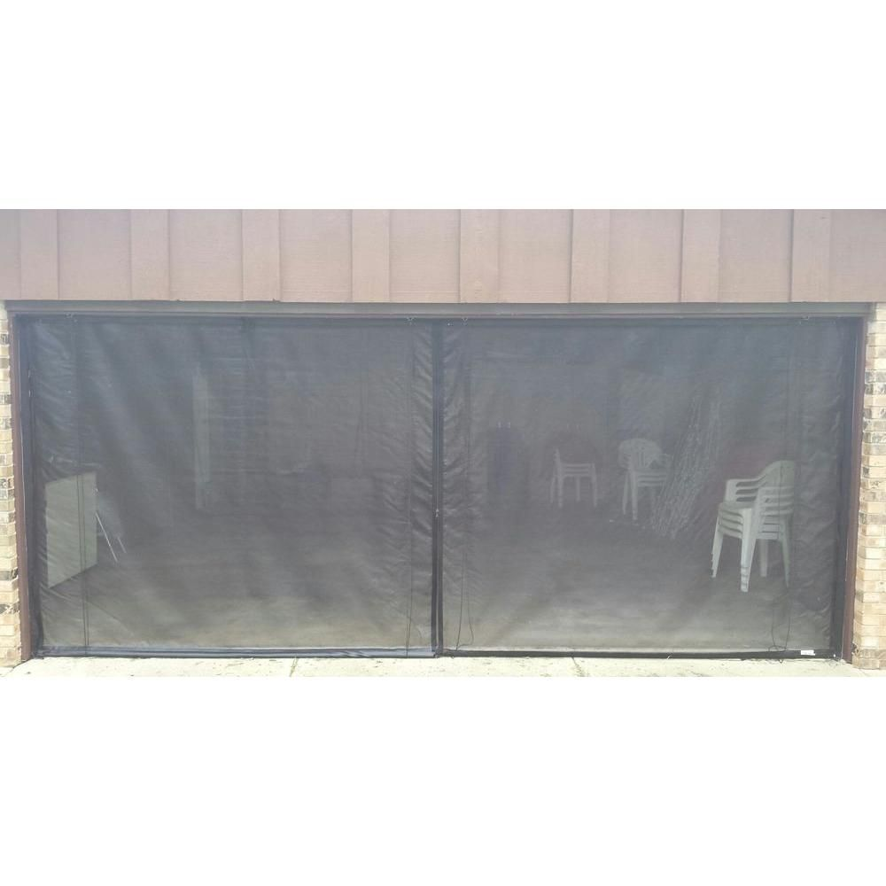 Fresh Air Screens 8 Ft X 7 Ft 3 Zipper Garage Door Screen With Rope Pull 1231 D 87 Rp The Home Depot Garage Doors Garage Screen Door Garage Door Accessories