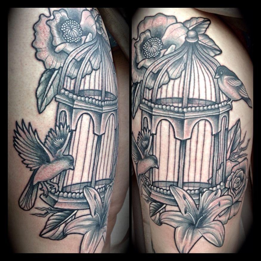 Pretty Bird Cage Tattoo Tattoo Ideas Pinterest Tattoos Cage