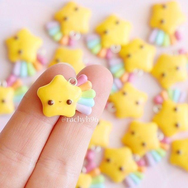 Hallo allerseits! Hier sind ein paar kawaii Regenbogen-Sternschnuppen ...