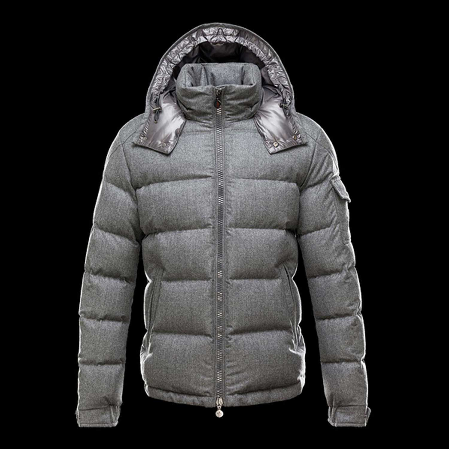 France Moncler Montgenevre Winter Jackets For Men Gray Outlet