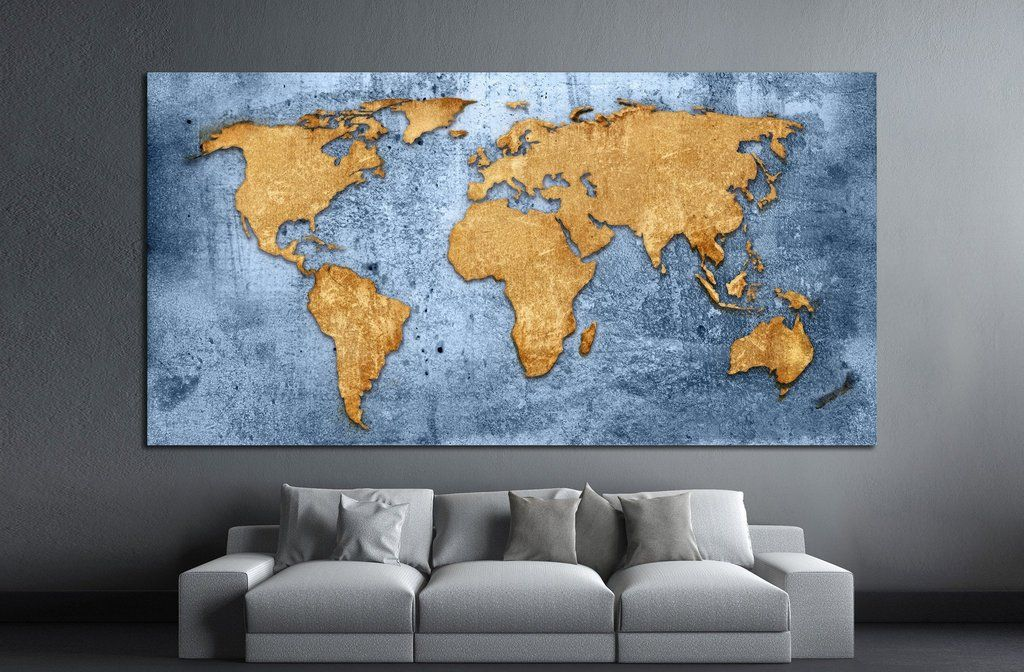 Blue world map 1489 living rooms room and house blue world map 1489 gumiabroncs Choice Image