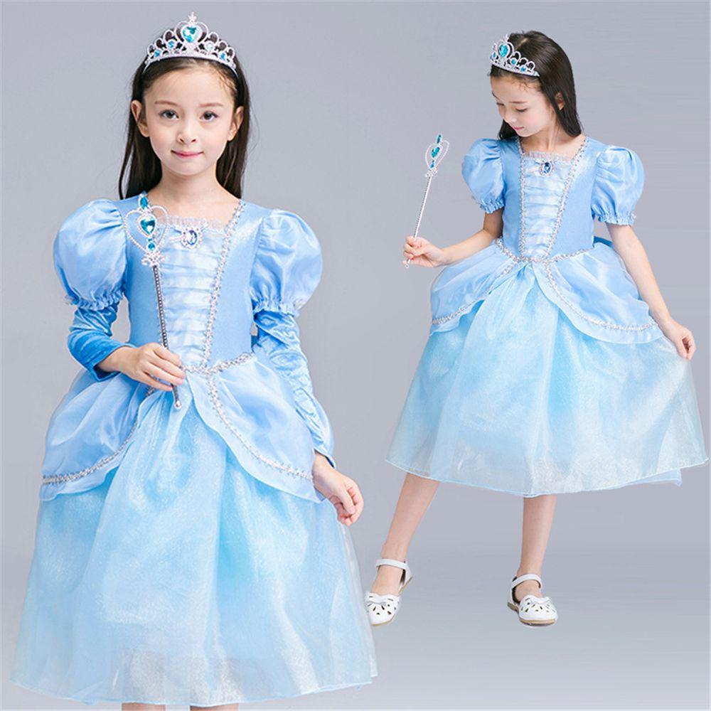 Cinderella Princess Dress Girls Dresses Children Cosplay Costume ...