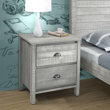Alaterre AJRU01RG $206.18 Rustic Nightstand,  Rustic Gray
