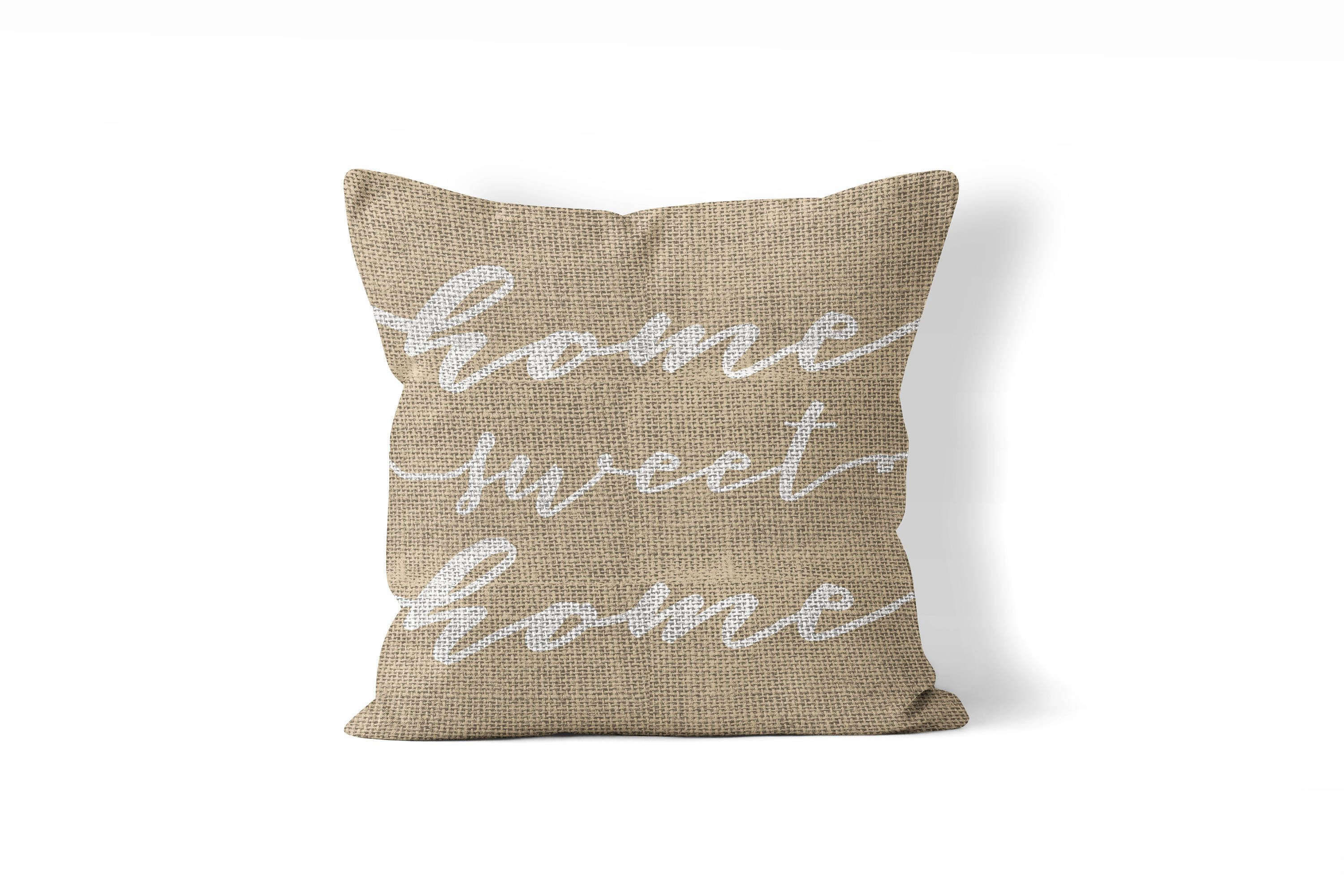 Give this a look quote pillow cover 20x20 in burlap