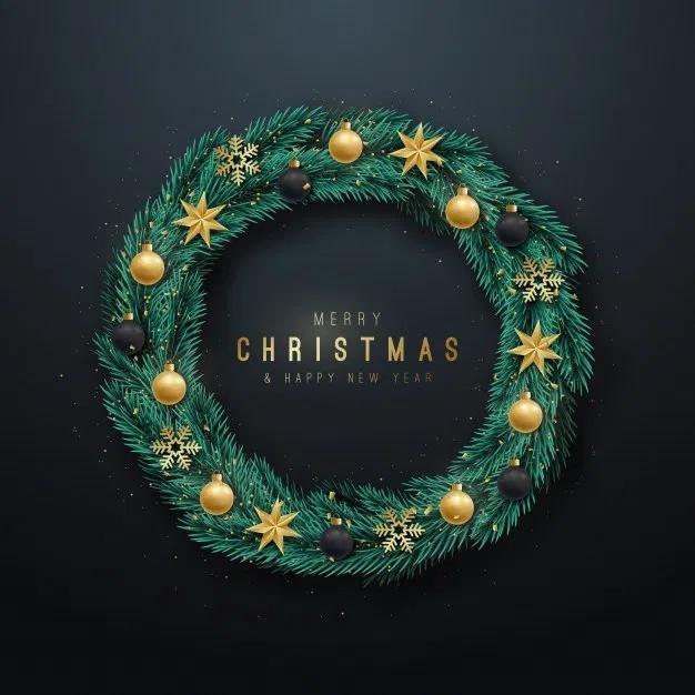 Christmas Vector Realistic wreath (Có hình ảnh)