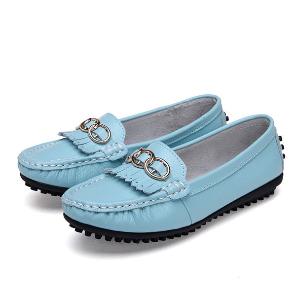 3a6dd4a757b Sale 27% (26.98 ) - Slip On Leather Casual Outdoor Women Soft Round Toe Flat  Loafers