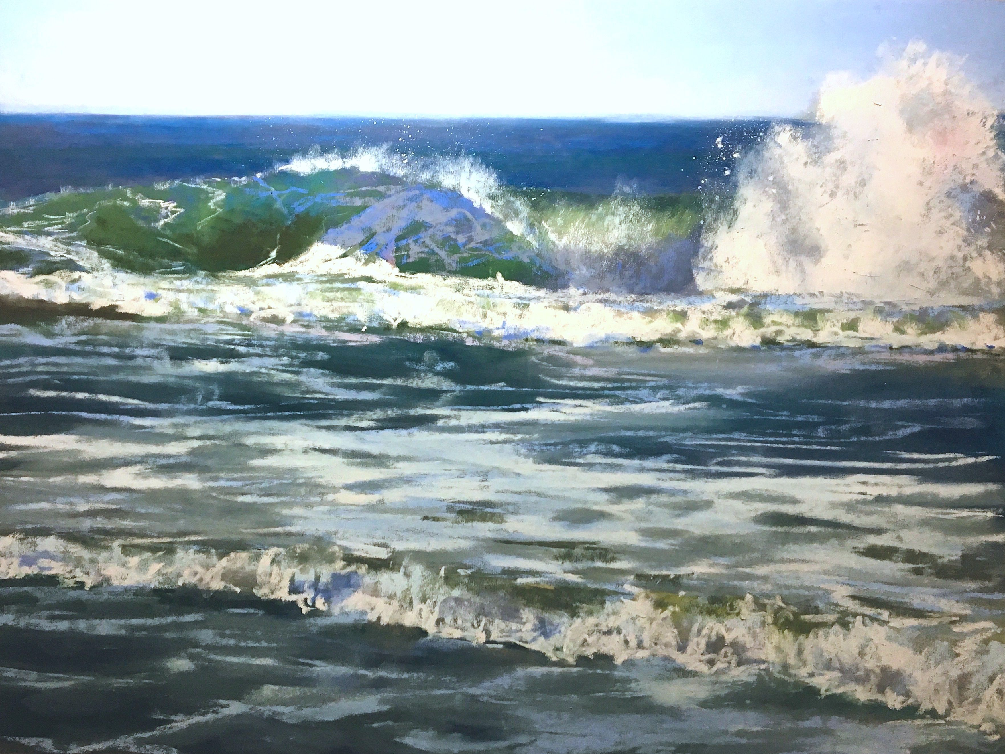 Pastel Painting: Anatomy of a Wave Streaming Video | Pastels ...