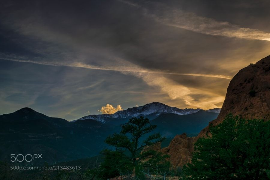 Sunset In Colorado Springs By Randydpoll Landscapes Landscapephotography Nature Travel Photography Pictureof Beautiful Landscapes Sunset Colorado Springs