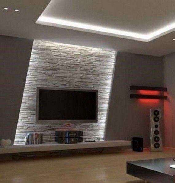15 Adorable Small House Lighting Design Ideas 5 Home Lighting Design Tv Wall Design Living Room Tv Wall