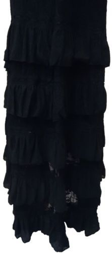 9f160b1f6269e Ladies Plus Size Elegant Lace Frill Long Maxi Rara Skirt