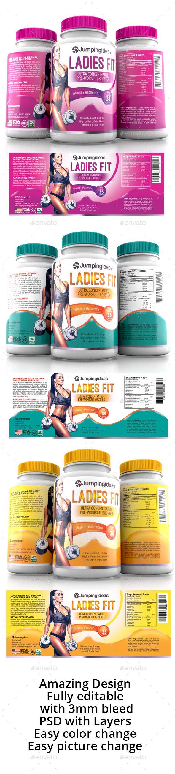 Supplement label Template Vol-13 | Medicina y Productos