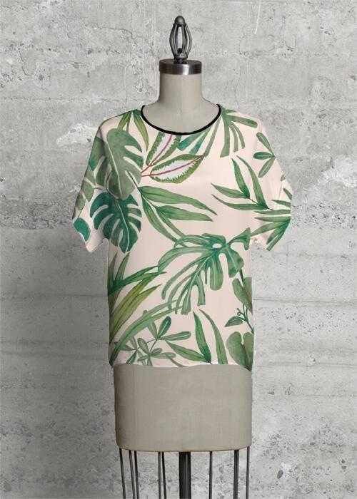 Modern Tee  Green Tropic Jungle in Green/White by Always Seek Original Artist