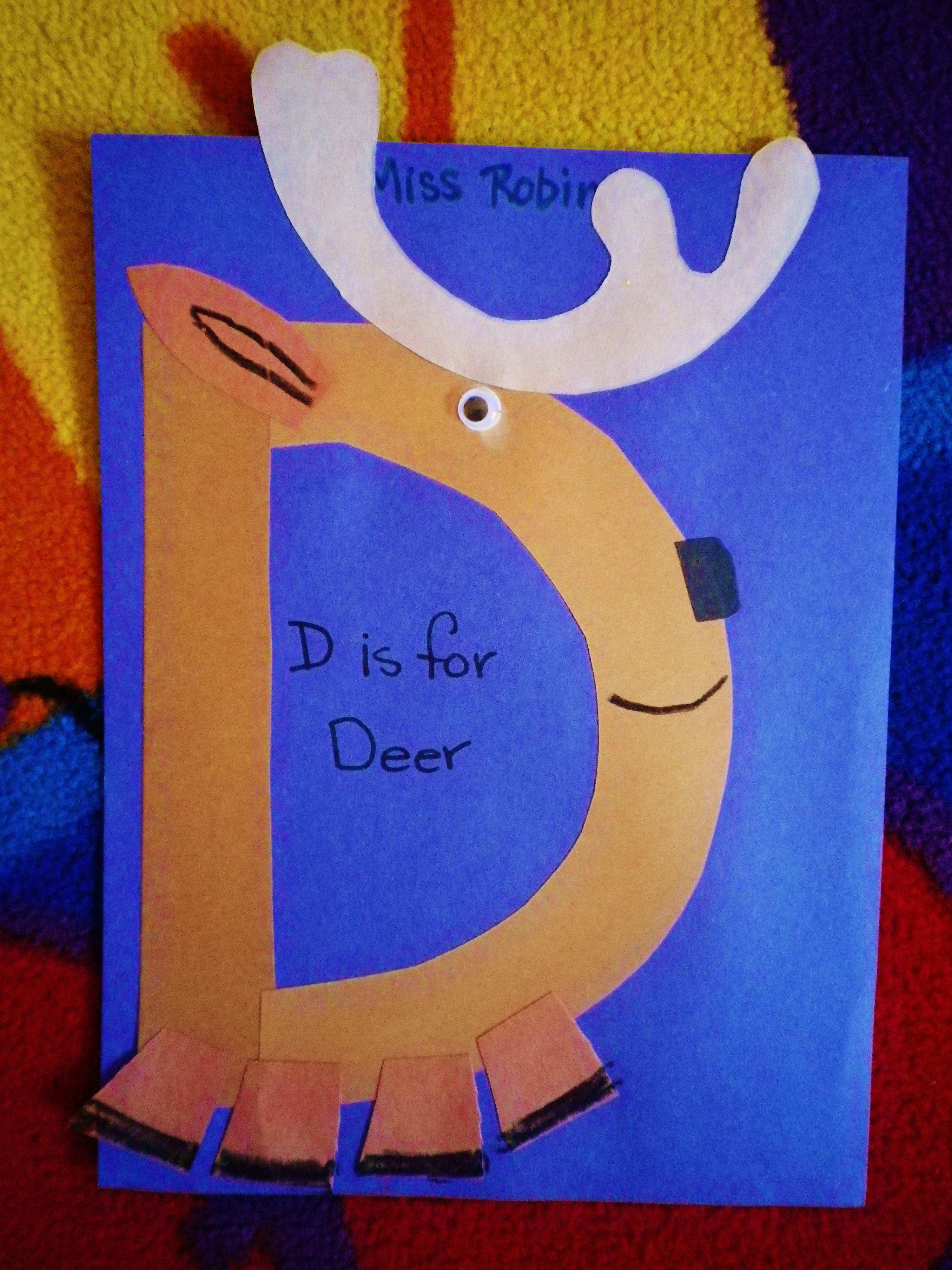 Learning D Is For Deer