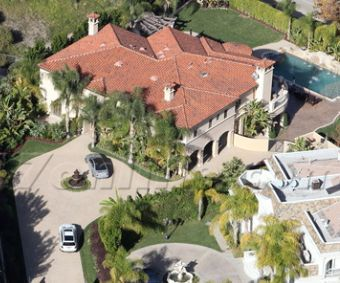 Khloe Kardashian and Lamar Odom's House in the Los Angeles suburb of Tarzana, CA