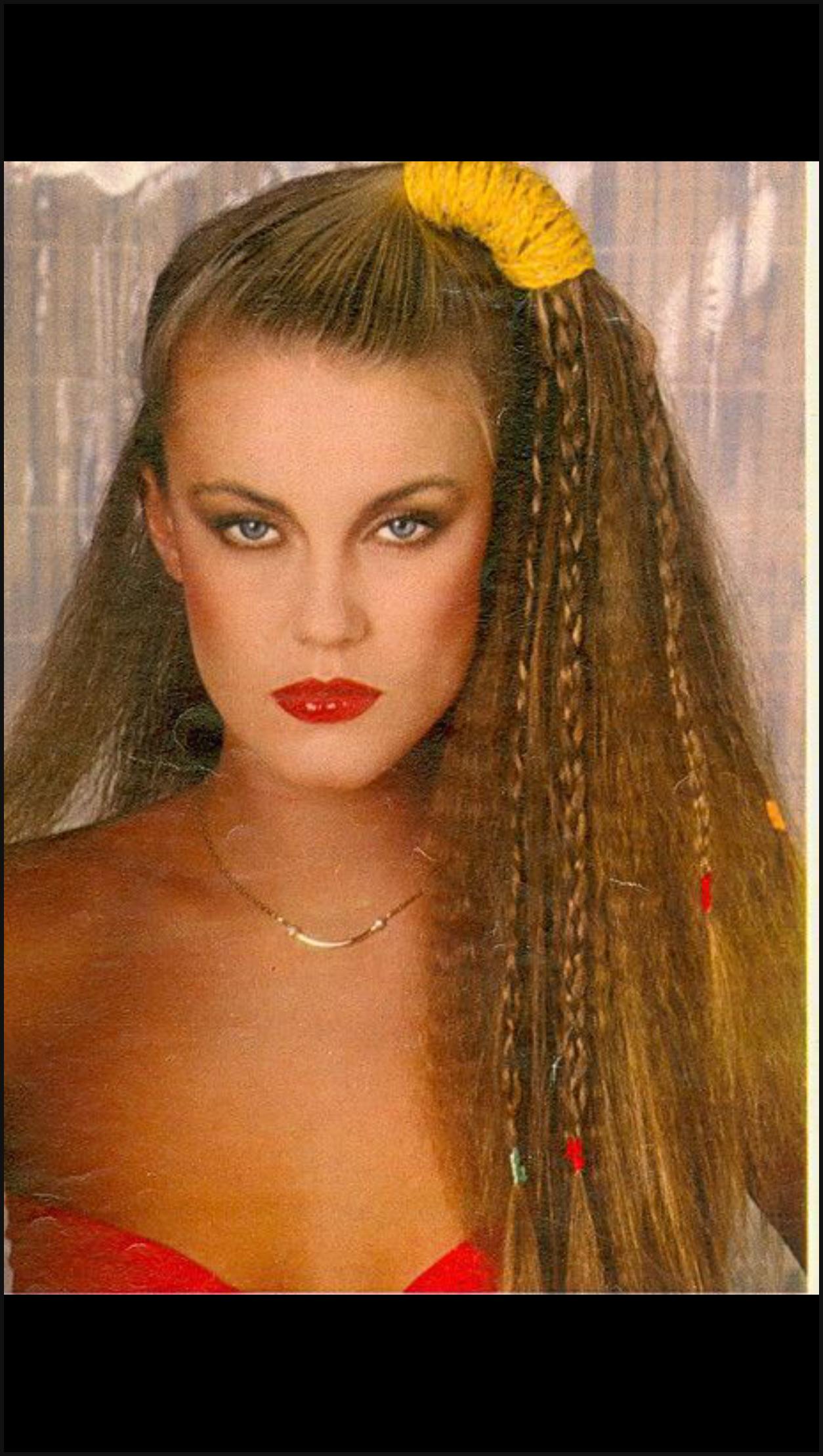 80er Jahre Frisur Frauen Lange Haare Drawing Apem
