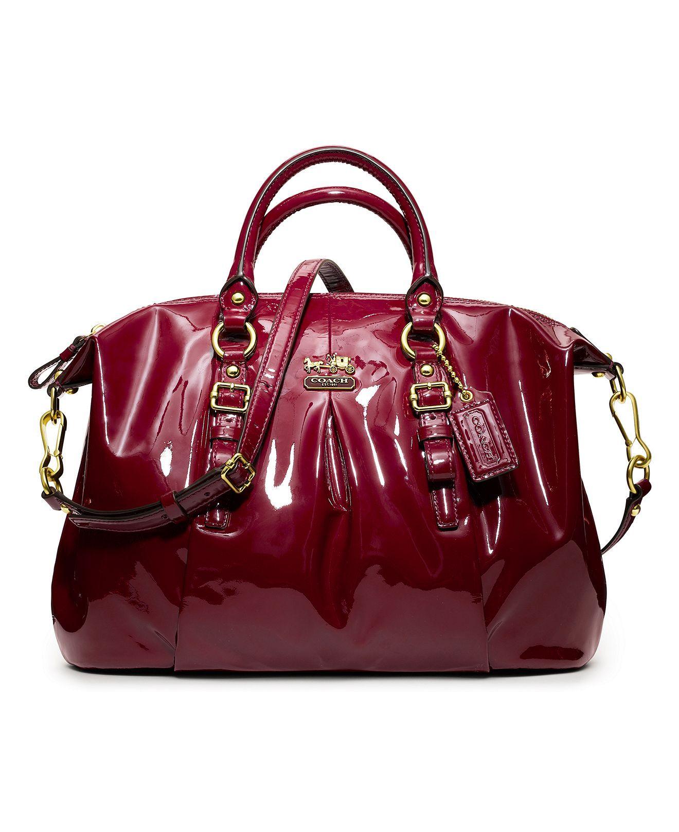 d9dfd2f7d2 COACH MADISON PATENT JULIETTE - Coach Handbags - Handbags   Accessories -  Macy s