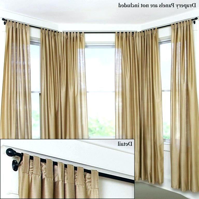Beautiful Bay Window Curtain Rod Ceiling Mount Bay Window