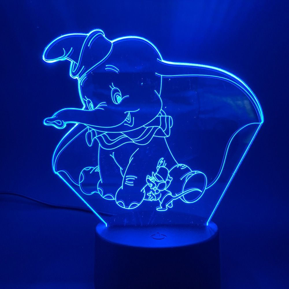 Cheap Led Night Lights Buy Directly From China Suppliers 3d Led Night Light Lamp Dumbo Cute Baby Nightlig In 2020 Baby Night Light Night Light Lamp 3d Led Night Light