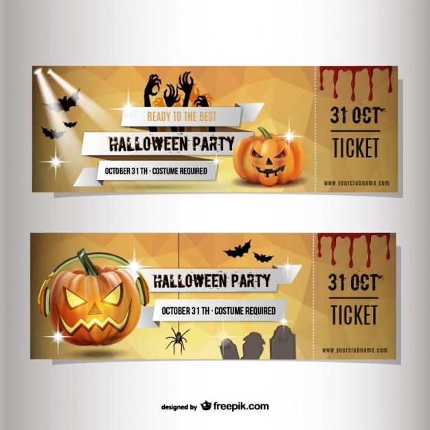 Halloween party ticket template Halloween – Party Tickets Templates