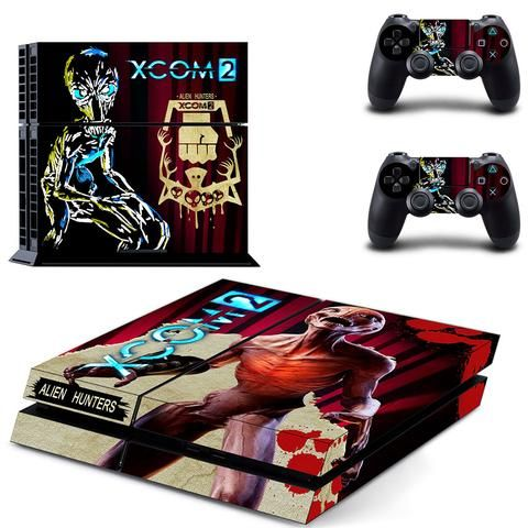 Alien Hunter & Xcom 2 ps4 skin decal for console and 2 controllers - Decal Design