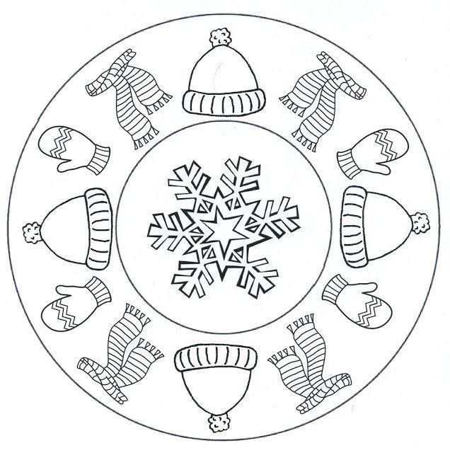 winter mandala coloring pages for kids crafts and worksheets for preschooltoddler and kindergarten