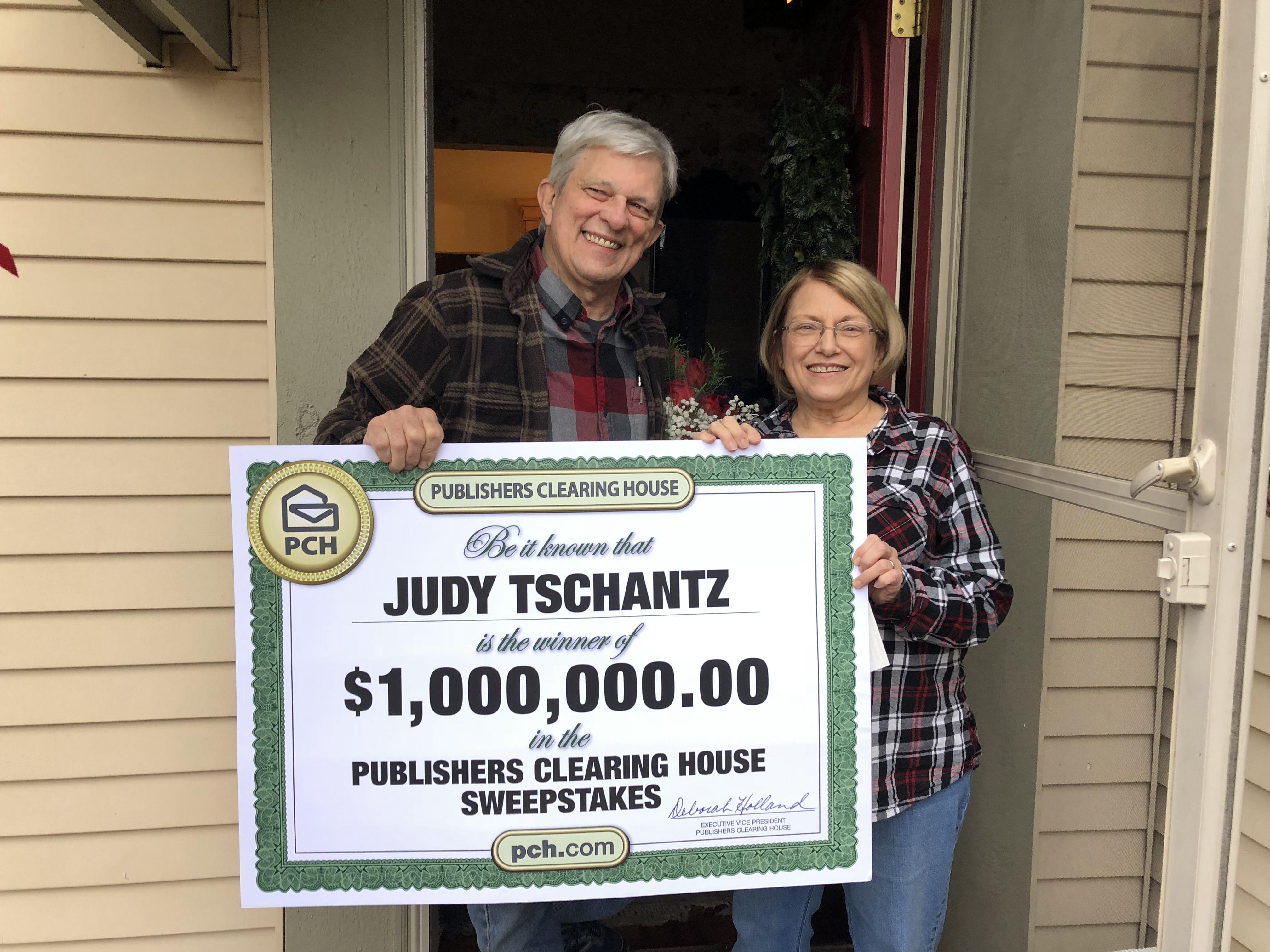 Publishers Clearing House Winners: Judy Tschantz from Saline