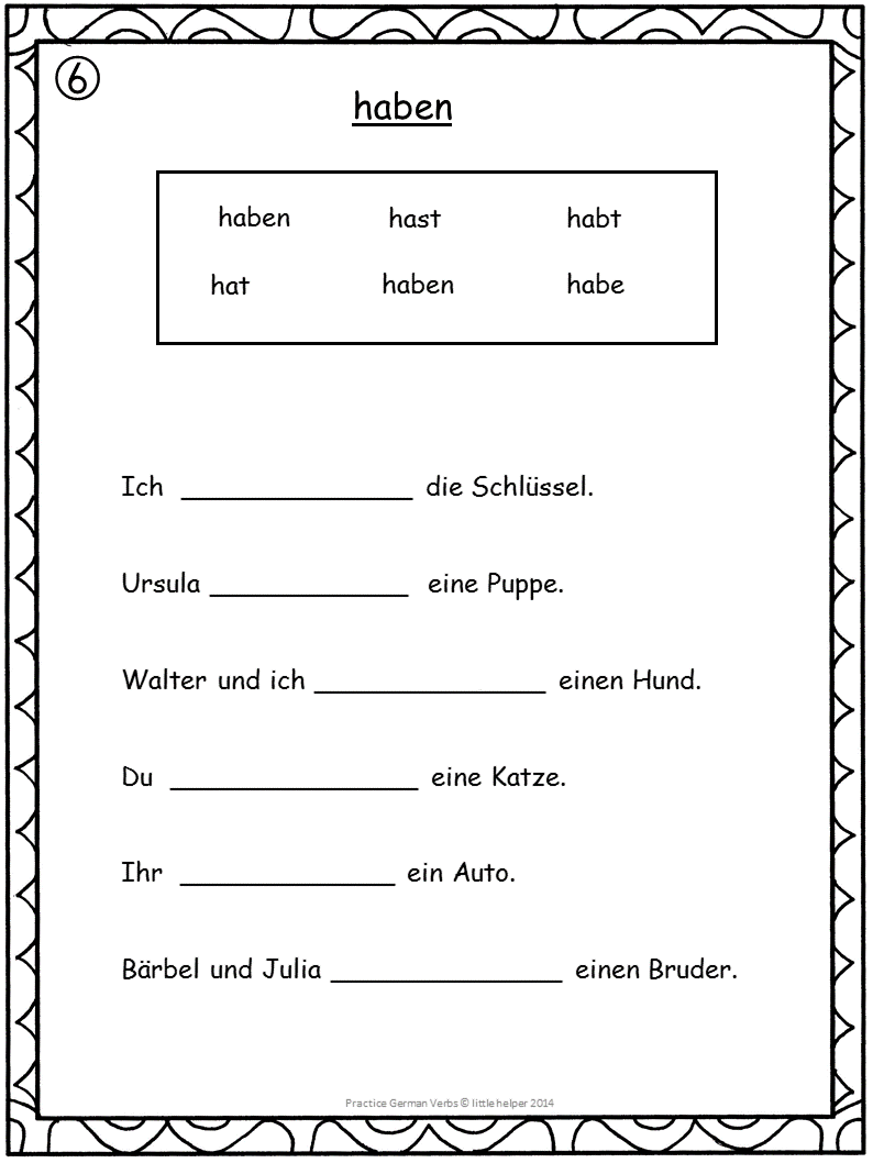German Verbs Conjugation Practice | German Language | Pinterest ...
