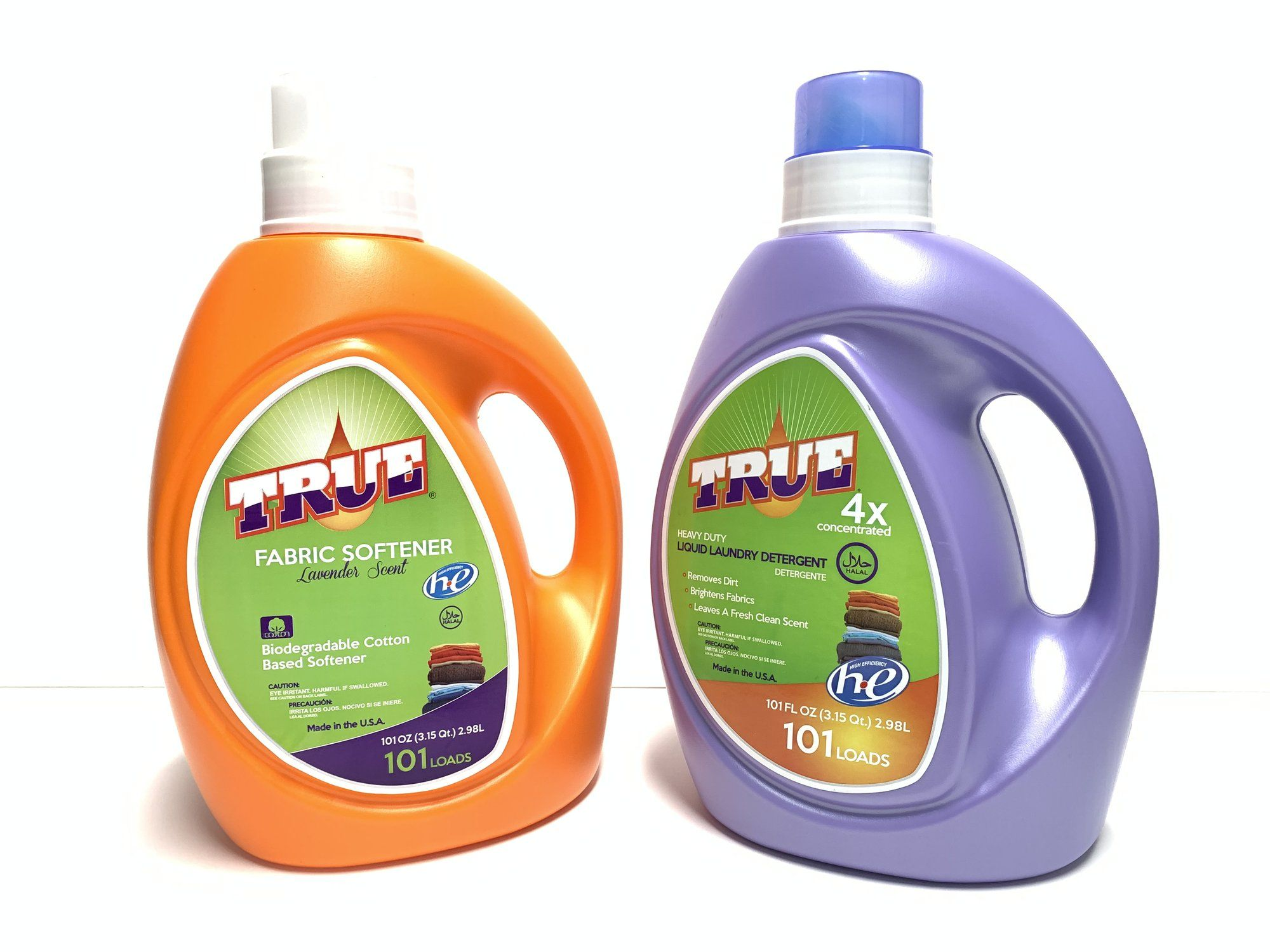 True Fabric Softener 101oz And Laundry Detergent 101oz