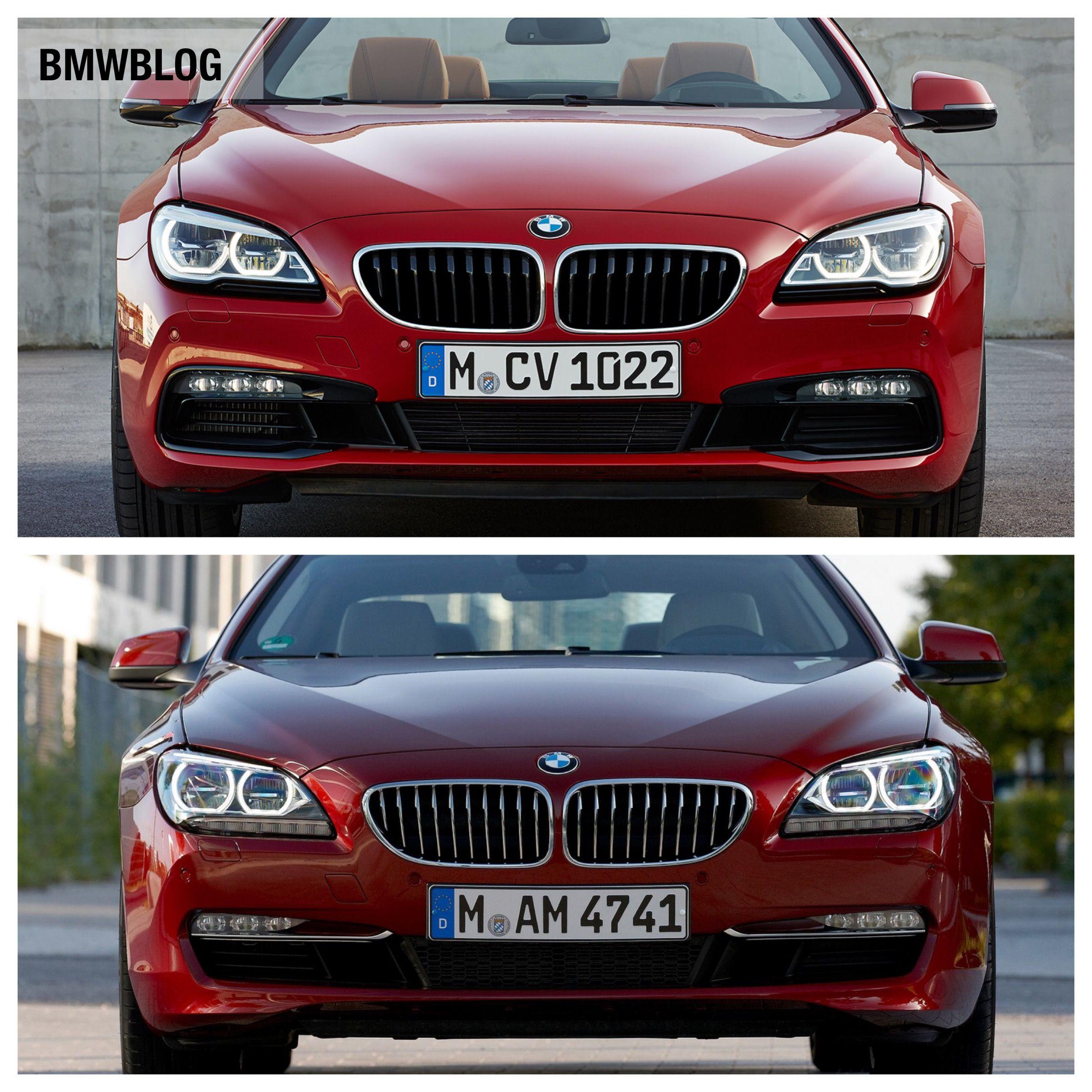 Photo Comparison 2012 Bmw 6 Series Vs 2015 Bmw 6 Series Facelift