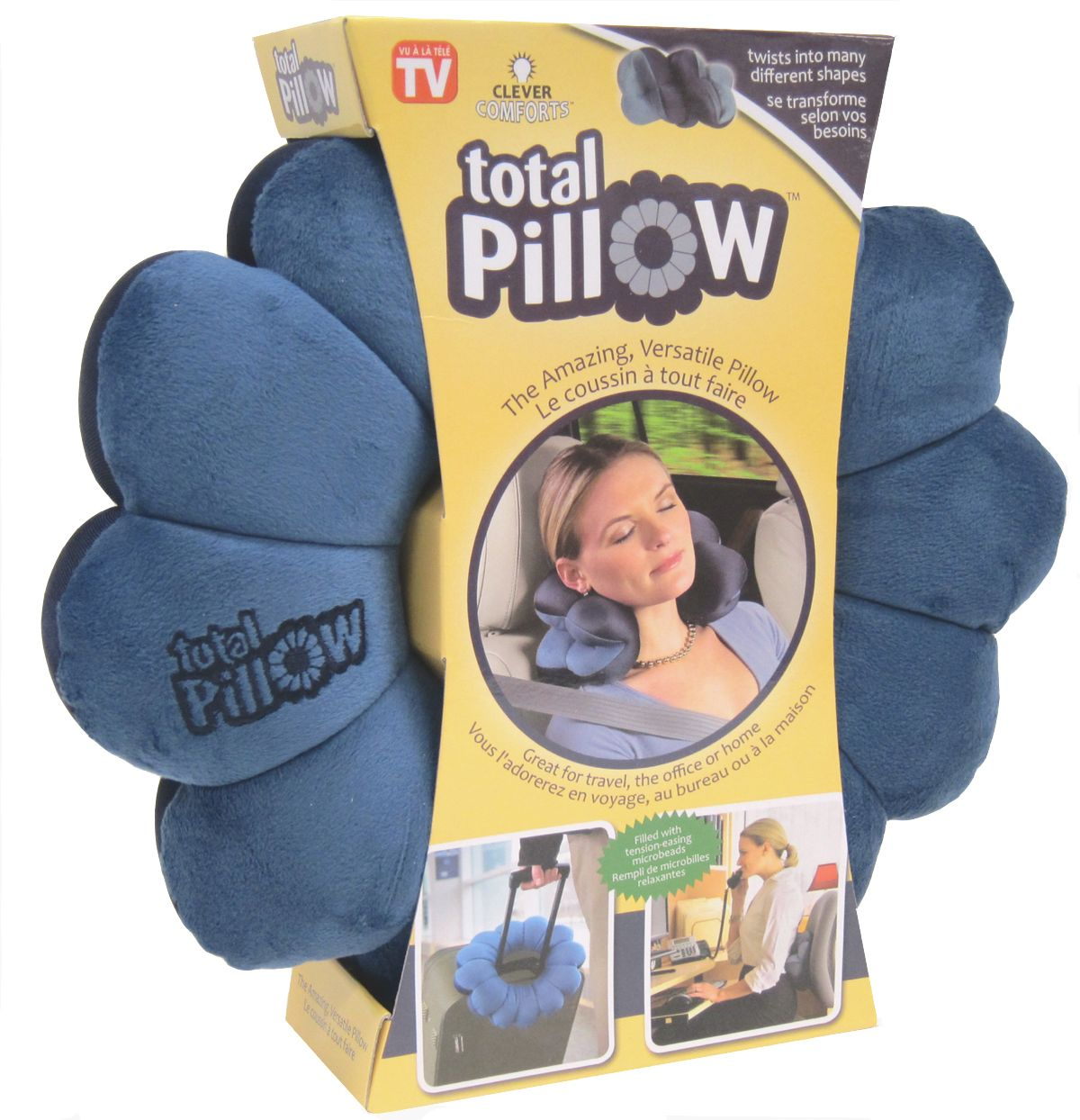 Total Pillow for Office, Home and Travel. Versatile Uses