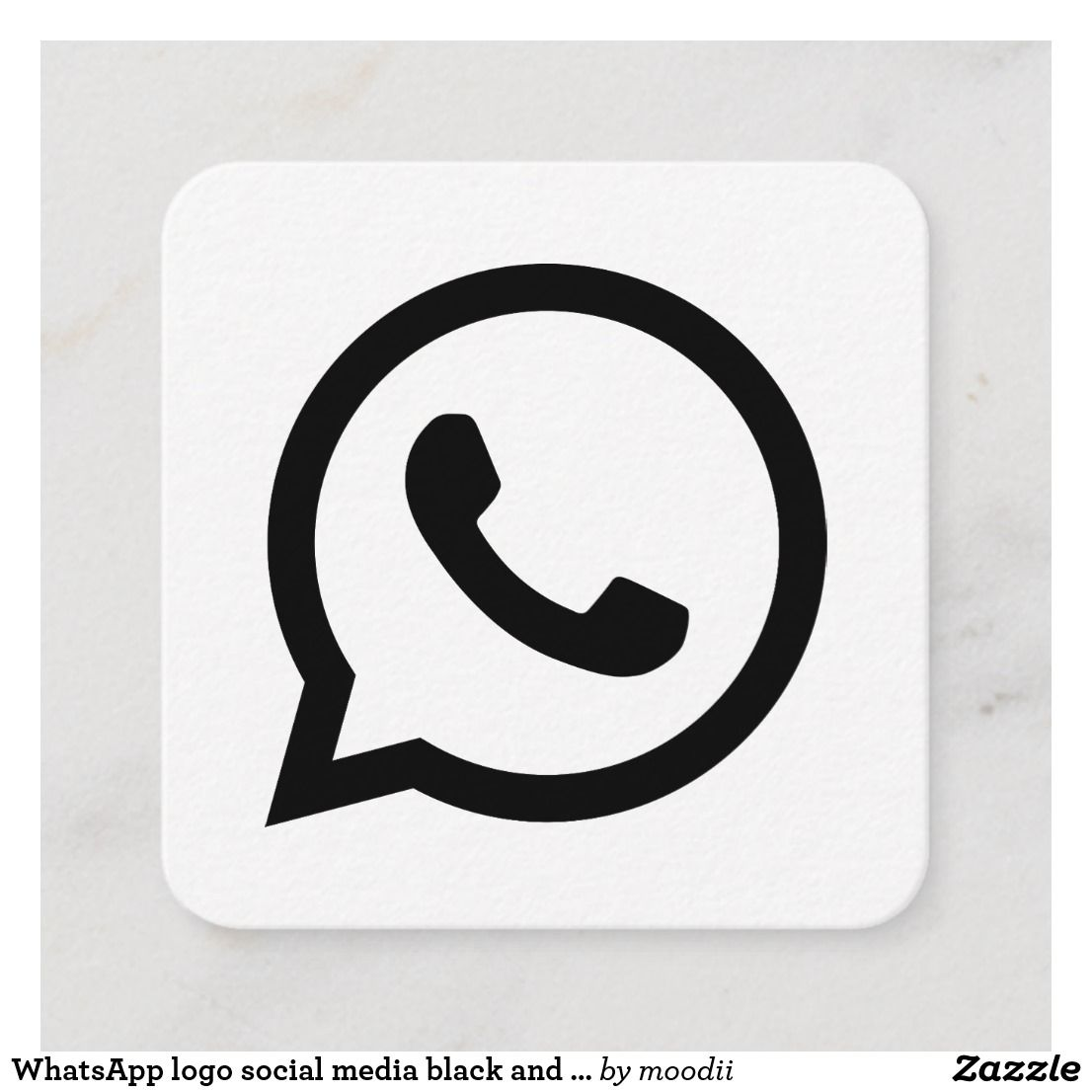WhatsApp logo social media black and white promo Calling
