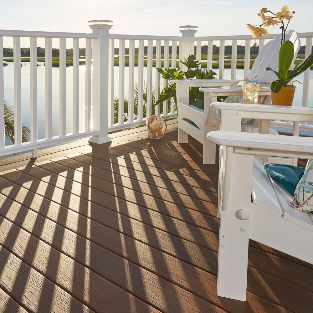 Veranda Regency 8 ft  x 3 ft  White Capped Composite Rail