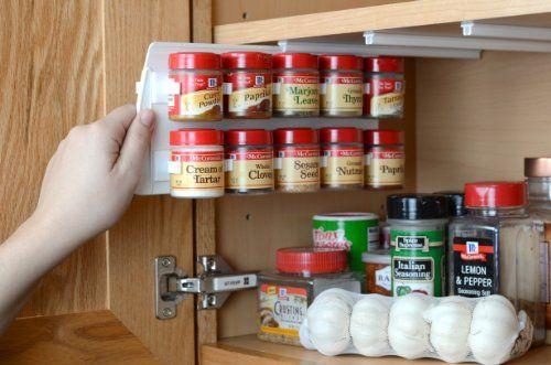 Spicestor Organizer Spice Rack 20 Clip 10 D X 5 H Spicestor Http Www Amazon Com Dp B005km05l2 R Spice Organization Spice Storage Kitchen Cabinet Organization