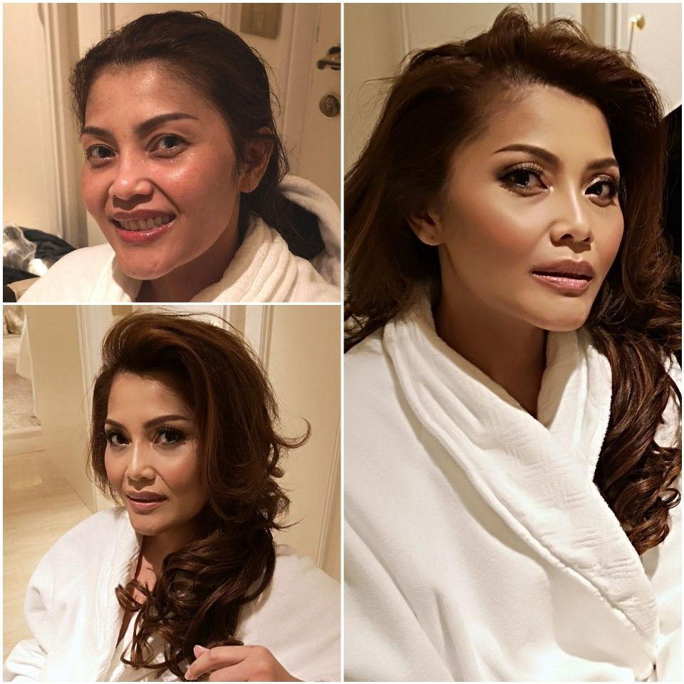 Indonesian singer hair and makeup in Rome