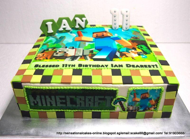 minecraft birthday cake Cakes Singapore Wedding Cupcakes
