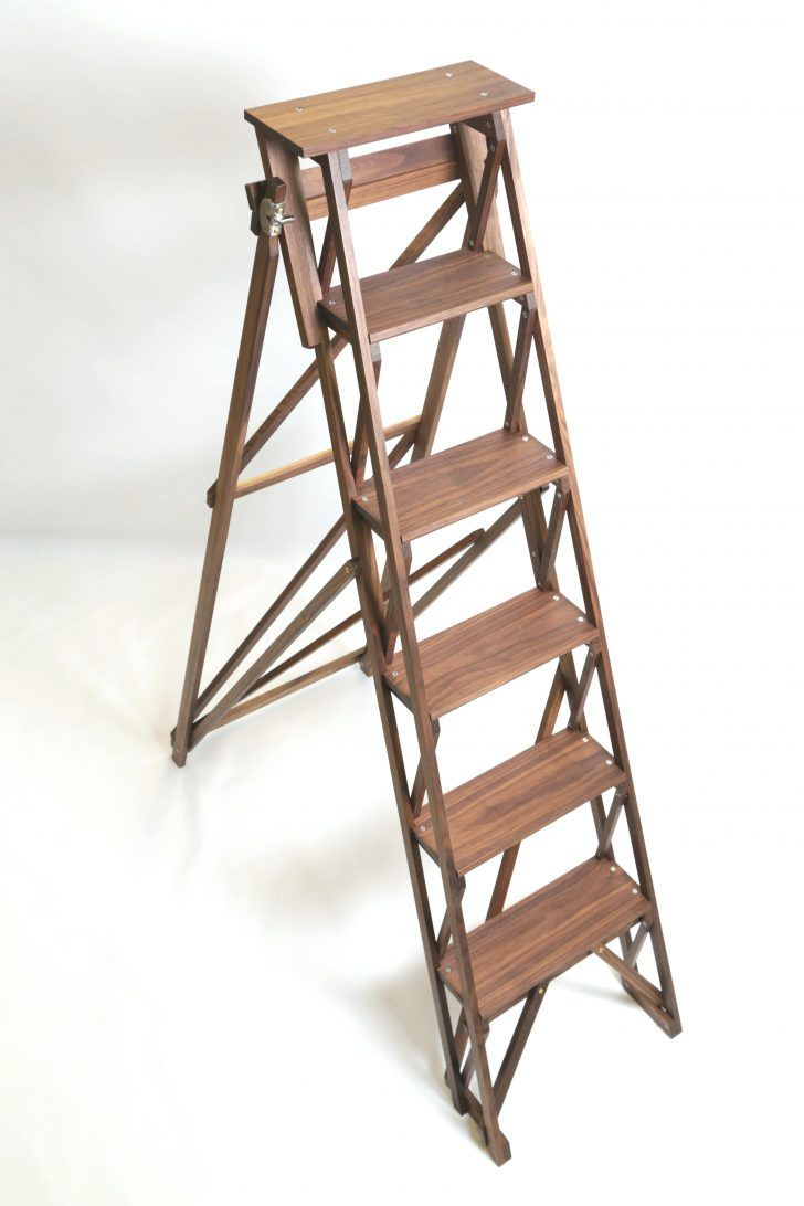 Library Step Ladder Wooden Stepladder Vintage Stool Woodworking In An Apartment Woodworking Wooden