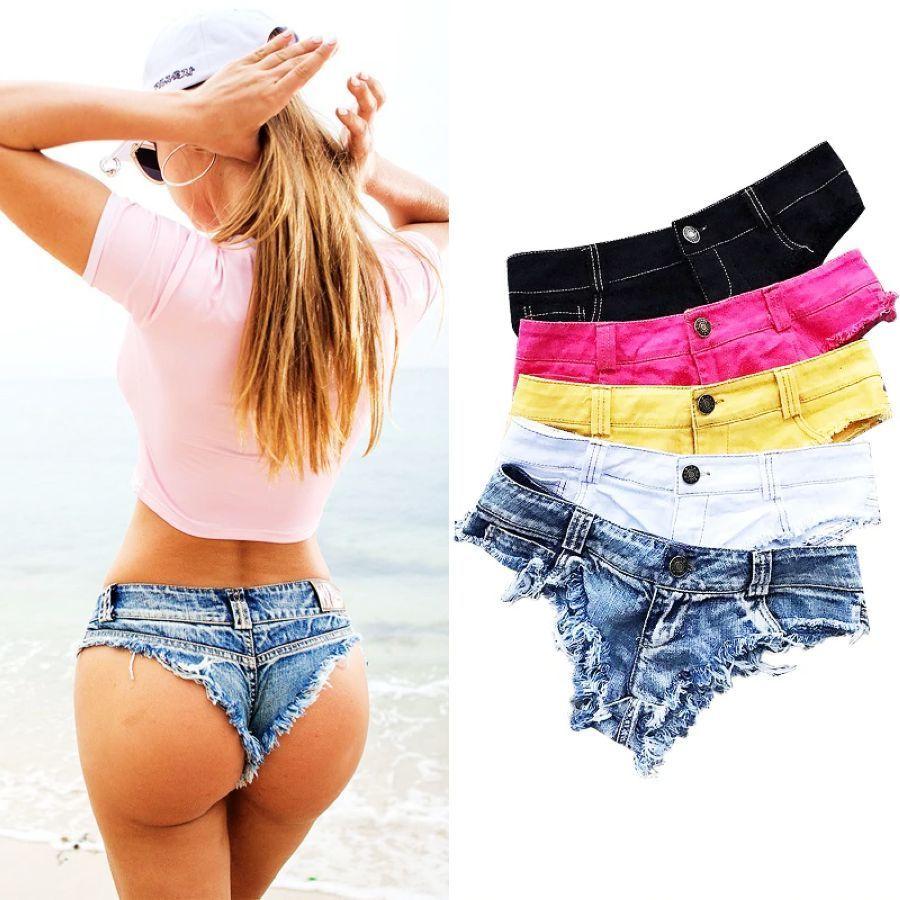 Women/'s Summer Button Turn Up Plus Size Denim Casual Slim Beach Hot Pants Shorts