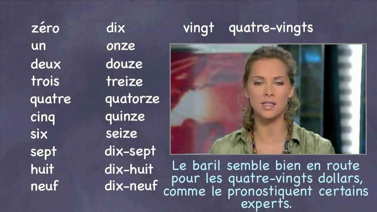 French Number Practice with Movie Clips French numbers