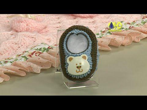 Vida com Arte | Sapatinho para Bebê em tricô por Jaqueline Santos - 08 de Junho de 2015 - YouTube